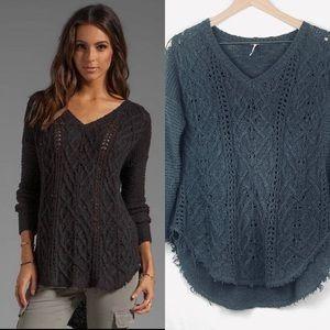 Free People Cross My Heart Sweater. Size X-Small